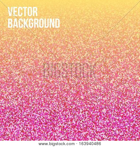 Pink glitter vector background. Seamless pattern for wedding invitation, valentine day. Tender and glamorous sparkling backdrop for gift, music cover, vip card, banner.