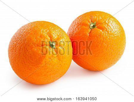 Oranges. Ripe oranges isolated on white background
