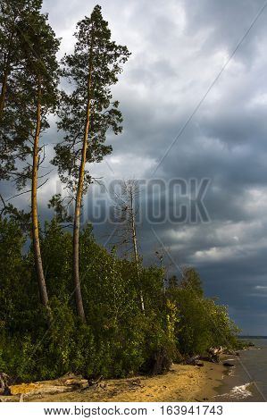 The night before the storm. The river Ob Novosibirsk oblast Siberia Russia