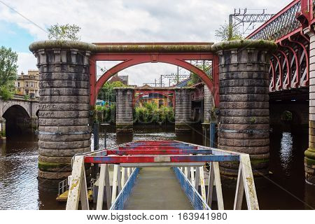 Remains Of The Original Caledonian Bridge In Glasgow