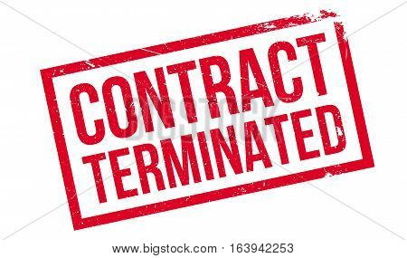 Contract Terminated rubber stamp. Grunge design with dust scratches. Effects can be easily removed for a clean, crisp look. Color is easily changed.