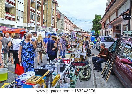 Vrsac Serbia September 17 2016. The street sales during the traditional event