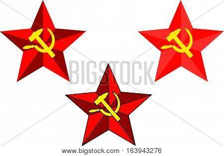 Soviet star ,  hammer and sickle ,