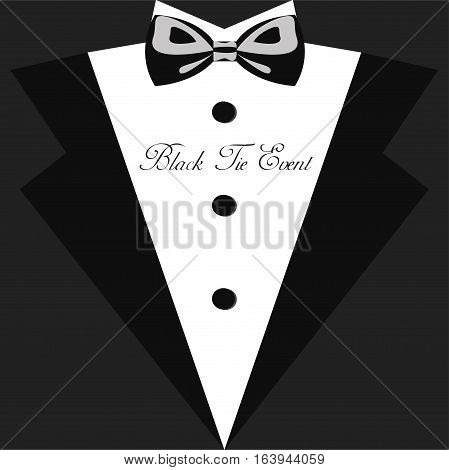 Wedding invitation vintage design elements, designers toolkit. Wedding card, elegant style. Elegant Vector Black Tie. Wedding dresses, vector illustration
