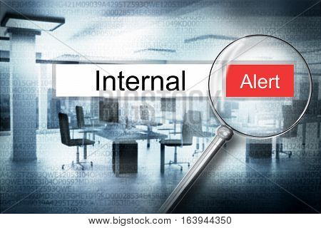 reading word internal browser search security alert 3D Illustration