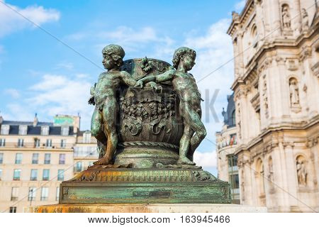 Historic Sculptures In Paris, France