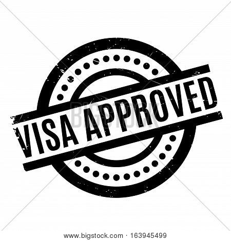 Visa Approved rubber stamp. Grunge design with dust scratches. Effects can be easily removed for a clean, crisp look. Color is easily changed.