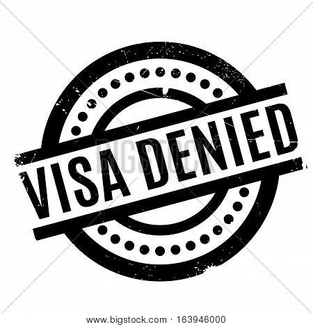 Visa Denied rubber stamp. Grunge design with dust scratches. Effects can be easily removed for a clean, crisp look. Color is easily changed.
