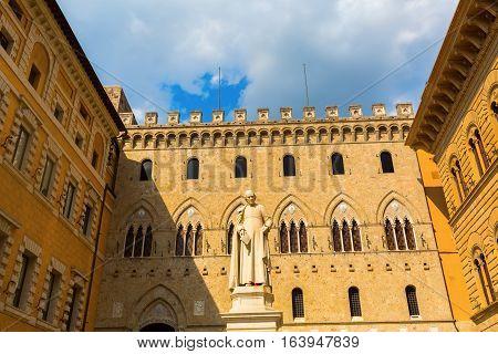 Statue Of Sallustio Bandini In Siena