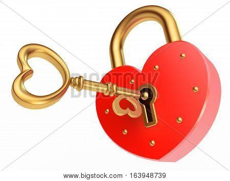 Key Opens The Padlock
