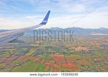 Aerial Mallorquin Landscape