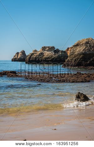 Vau beach in Portimao. This beach is a part of famous tourist region Algarve