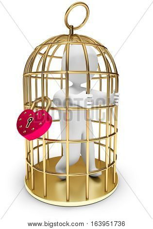 Man Trapped In A Golden Cage