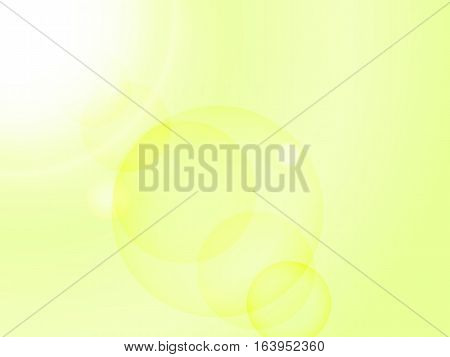 Abstract Yellow Background With Sun Rays And Glare