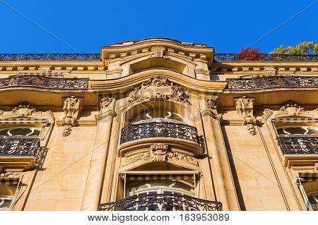 Facade Of A Historical Building In Paris