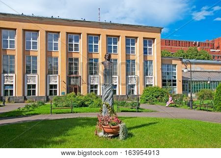 SAINT-PETERSBURG, RUSSIA, AUGUST 3, 2016: Peter the Great Sculpture and Botanical Museum in Botanic Gardens of the Komarov Botanical Institute of the Russian Academy of Sciences