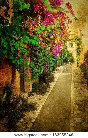 Vintage Style Picture Of Saint-paul-de-vence, France