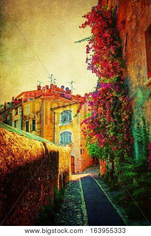 Vintage Style Picture Of Saint-paul-de-vence, France