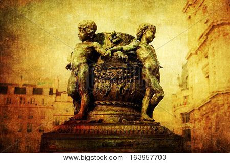 Vintage Style Picture Of Historic Sculptures