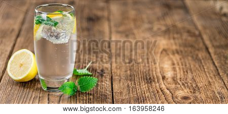 Fresh Made Lemonade On A Rustic Background