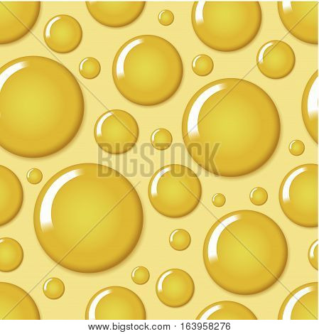 Yellow round bubble seamless pattern vector illustration. Abstract colorful decorative circle background can be used for wallpaper, pattern fills, web page background, surface textures