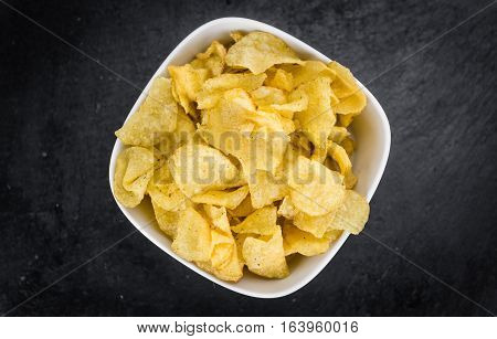 Portion Of Potato Chips (sour Cream Taste)