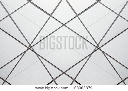 Blank paper cut. brochure magazine isolated on gray, changeable background / white paper isolated on gray