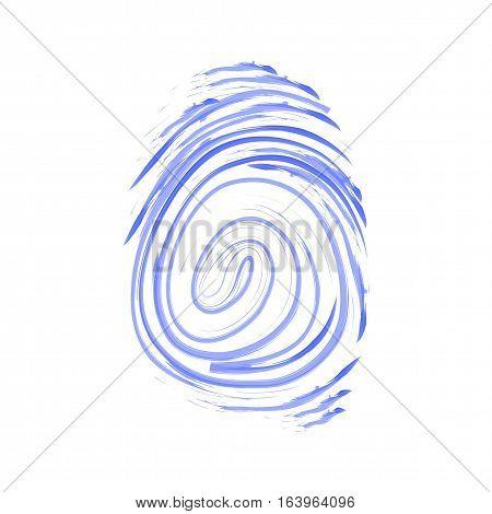 Vector icon. Fingerprint. Isolated illustration. Watercolor pattern jpg eps