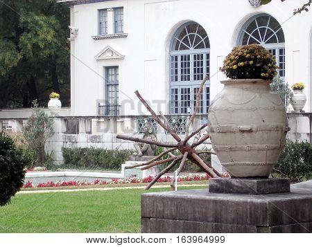 Washington USA - October 19 2004: Aztec Garden.