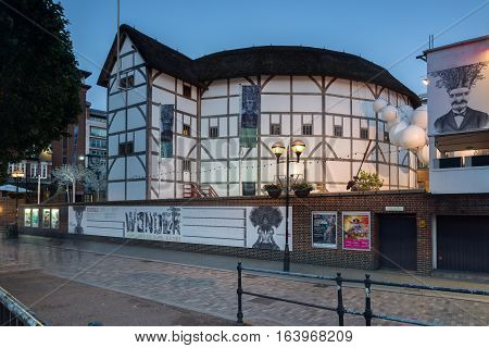 London, England - June 17 2016: Shakespeare's Globe in London, Great Britain