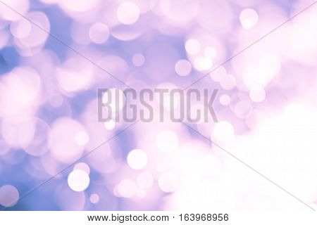 white bokeh blur background / Circle light on purple background / abstract light background