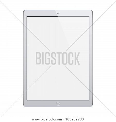 tablet grey color with blank touch screen isolated on white background. stock vector illustration eps10