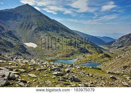 Amazing panorama around Argirovo lake, Pirin Mountain, Bulgaria