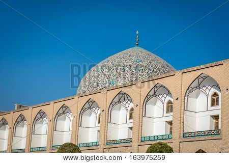 Dome of Sheikh Lotfollah Mosque in Isfahan city Iran