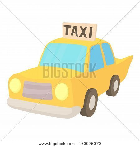 Taxi icon. Cartoon illustration of taxi vector icon for web