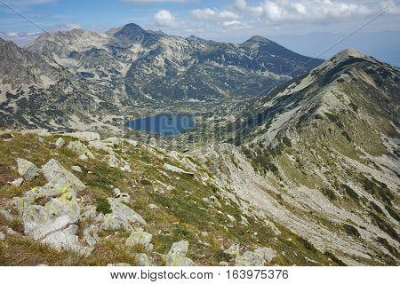 Amazing Landscape with Sivrya, Polezhan and Dzhangal peak and popovo lake, Pirin Mountain, Bulgaria
