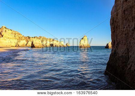 Sunny day in Algarve, Portugal. Wonderful Colors of Faro