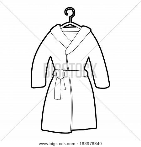 Bathrobe icon. Outline illustration of bathrobe vector icon for web