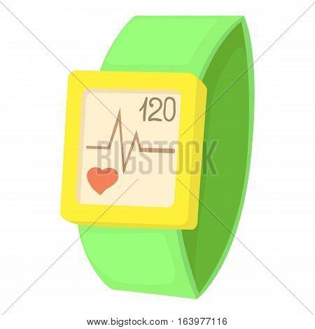 Fitness bracelet icon. Cartoon illustration of fitness bracelet vector icon for web