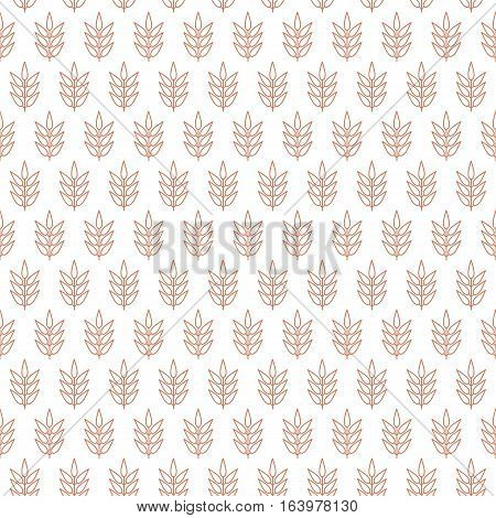 a seamless background decorated with stalks of leaves with pastel color