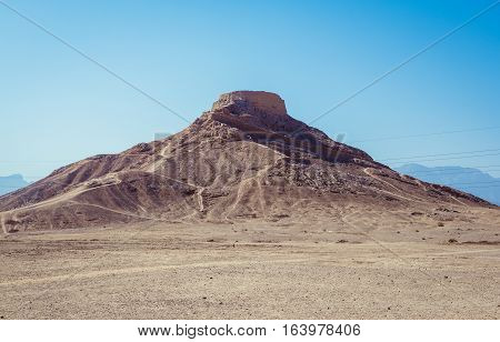 Zoroastrian Tower of Silence in Yazd city Iran