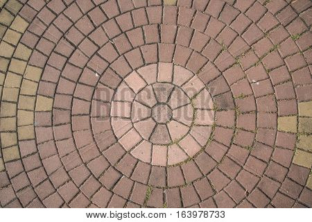 circle paving stones brick texture path way