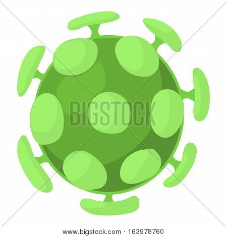 Bacterial cell icon. Cartoon illustration of bacterial cell vector icon for web