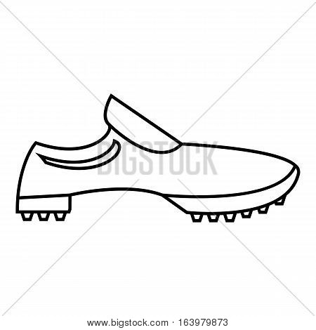 Men sneakers icon. Outline illustration of men sneakers vector icon for web