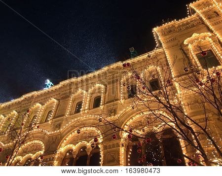 Detailed Architecture of the Red Square in moscow