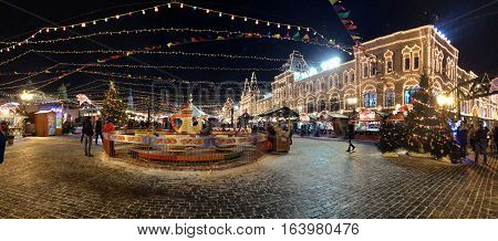 Red square in moscu during christmas market