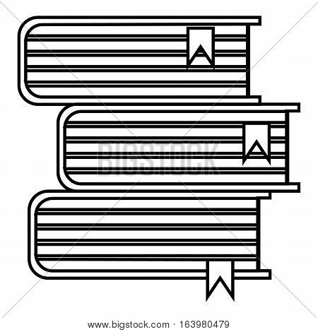 Stack of books icon. Outline illustration of stack of books vector icon for web