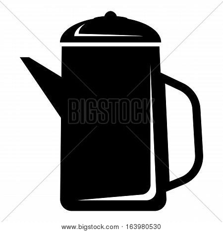 Metal kettle icon. Simple illustration of metal kettle vector icon for web