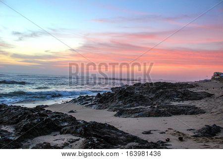 Sunset in Vilacha, rural zone of Porto, Portugal