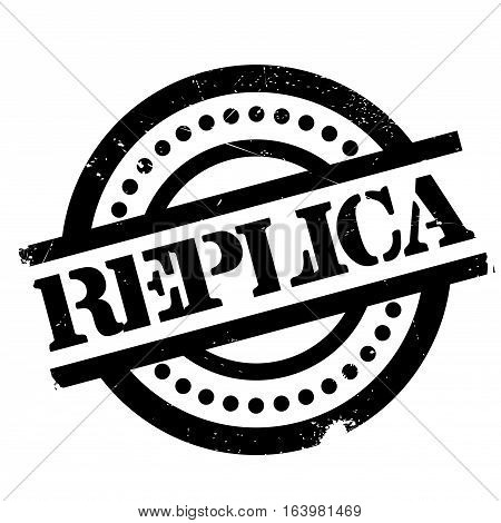 Replica rubber stamp. Grunge design with dust scratches. Effects can be easily removed for a clean, crisp look. Color is easily changed.